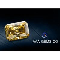 Buy cheap Light Yellow Radiant Cut Moissanite Diamond Middle Size 5mm x 7mm from wholesalers