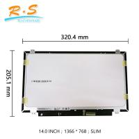 Buy cheap AUO B140XTK01.0 14 slim EDP lcd 1366*768  30pin  small  interface from wholesalers