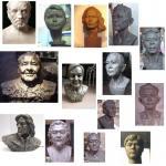 Buy cheap portrait art sculpture in resin,portrait sculpture in bronze from wholesalers