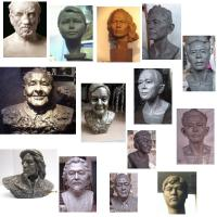 Buy cheap portrait art sculpture in resin,portrait sculpture in bronze product