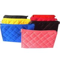 Buy cheap Personalized Small Polyester Zippered Cosmetic Bag , Red / Blue / Yellow / Black from wholesalers