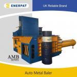 Buy cheap Automatic metal HMS press machine scrap metal baler copper aluminum beer can wast iron baler from wholesalers