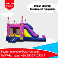 Buy cheap air bouncer inflatable trampoline/tunnel bouncer combo/inflatable bouncer castle for sale from wholesalers