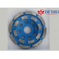 Buy cheap Double Row Up 9  4.5  4 Inch Concrete Grinding Wheel  For Angle Grinder  Blue from wholesalers