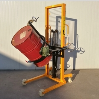 Buy cheap 1500mm 120mm/S Manual Oil Drum Stacker Movers from wholesalers