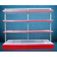 Buy cheap Foldable Grid Back Store Wall Mounted Shelves Iron Storage Rack Single Face from wholesalers