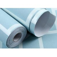 Blue pre pasted self adhesive wallpaper non woven 3d for Pre adhesive wallpaper