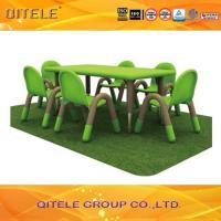 Buy cheap Green Children Table And Chairs For Nursery School 120 x 60 x 45 CM from wholesalers