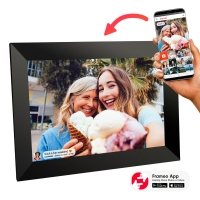 Buy cheap 8/10 inch digital photo album wifi touch screen digital photo frame,digital cloud frame with frameo app remote update from wholesalers