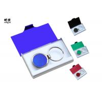 Buy cheap Branded Metal Name Card Holder And Keychain Business Gift Sets Any Color Available from wholesalers