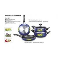 Buy cheap 6 Pcs Nonstick Cookware Set , Aluminum Alloy Kitchen Cookware Sets from wholesalers