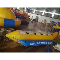Buy cheap Blue And Yellow Inflatable Fly Fishing Boats / Inflatable Banana Boat 4 Seats from wholesalers
