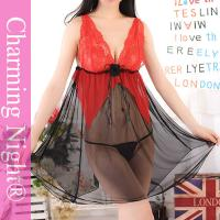 Buy cheap Mature Woman Teen Girl Sexy Lingerie Nightwear , Lace Mesh Fetish sexy sleeping clothes from wholesalers