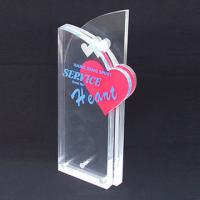 Buy cheap Custom Engraved Corporate Gift Acrylic Award Trophy With Silk Printing Logo product