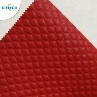 Buy cheap Wholesale quilted Synthetic embroidered PU  shoe leather from wholesalers