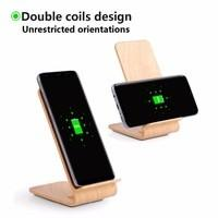 Buy cheap A8 Qi Fast Wireless Mobile Charger Stand Light Wood 10W 5mm Working Distance from wholesalers