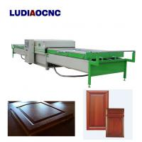Buy cheap Automatic two tables PVC film wood veneer vacuum membrane laminating press machine for MDF door cabinet from wholesalers