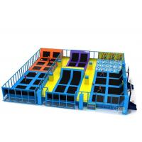 Buy cheap Large Commercial Plan Inflatable Sports Games / Indoor Trampoline Park from wholesalers