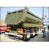 Buy cheap Dump U Shape 3 Axles End Tipping Semi Trailer / Rear dump trailer hydraulics from wholesalers