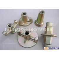 Buy cheap Galvanized Formwork Tie Rod System , Flanged Wing Nut Steel Cone SGS Approval from wholesalers
