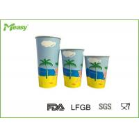 Buy cheap 12oz 16oz 22oz Disposable Cold Paper Cups , Custom Disposable Drinking Cups Eco Friendly from wholesalers