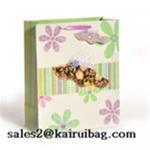 Buy cheap 3D Laser Hat Flower Shopping Paper Bag KR091-3 from wholesalers