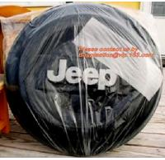 Buy cheap Heavy Duty PE Plastic 1.1 Mil Car Wheel Storage Bags from wholesalers