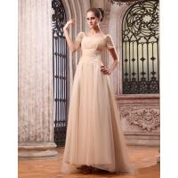 Buy cheap 2013 New Fashion Women Long Evening Party Dresses with Short Sleeve / Square Neckline from wholesalers