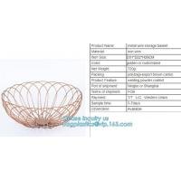 Buy cheap Hanging Metal black Wire Mesh Fruit Storage Basket, Stainless Steel Wire Mesh Containers Metal Mesh Kitchen Vegetable St from wholesalers