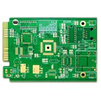 Buy cheap Computer PCB FR-4 4 Layer Pcb Prototype ENIG Green Soldmask White Silkscreen With Gold Finger from wholesalers