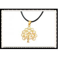 Buy cheap Tree of Life Necklace Pendant 24K Gold Plated Necklace Crystal Diamante Leaf from wholesalers