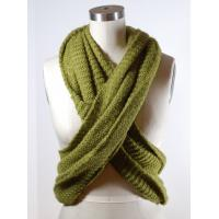 Buy cheap Green Wide Circle Winter Knitted Scarf Chunky Crochet Patterns Available from wholesalers
