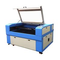 Buy cheap co2 90W jeans/cloth/coconut shell/corian/eyeglasses laser engraving machine from wholesalers
