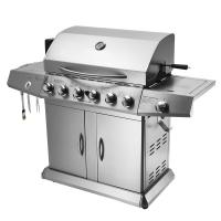 Buy cheap 6 Burners Lava Rock Outdoor Rotisserie Gas Barbecue Grill Spit Roaster With Motor from wholesalers