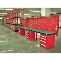 Buy cheap Customized Warehouse Garage Industrial Work Table With Led Tube Overhead from wholesalers