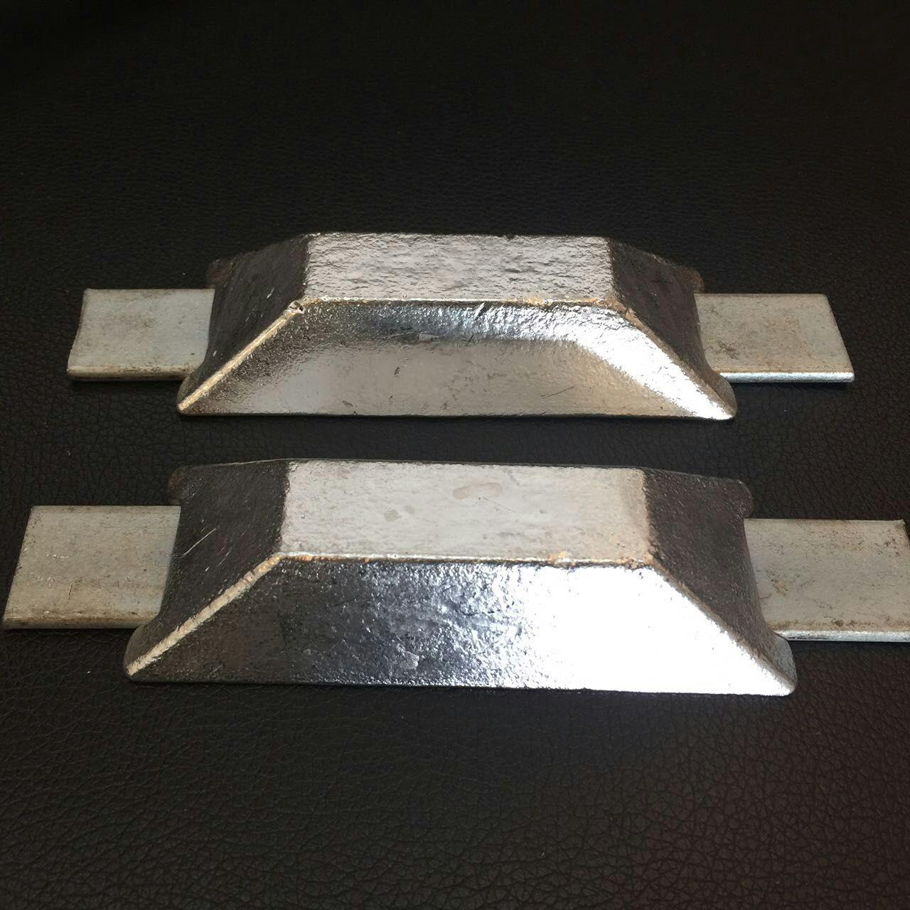 Buy cheap Alloy Sacrificial Anode Zinc Anode With Double Iron Feet For Ships Boats from wholesalers