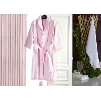 Buy cheap Jacquard Comfortable Hotel Luxury Bath Robes , Women's / Mens Luxury Towelling Bathrobe from wholesalers