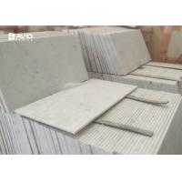 Italian Carrara	Marble Stone Tile Anti - Wear , Marble Bathroom Tiles OEM / ODM