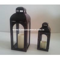 Buy cheap Battery Operated Plastic Outdoor Flameless Candle Lantern with Timer for Garden Lighting from wholesalers