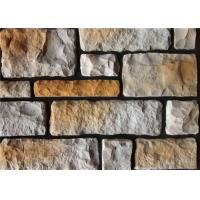 Buy cheap Colorful Artificial Wall Stone For Interior / Exterior Wall Decoration Irregular Size product