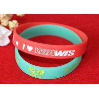 Buy cheap Soft Feeling Printed Silicone Wristbands , Promotional Rubber Wristbands SGS Compliant from wholesalers