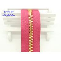 Buy cheap Metal Ykk Sewing Notions Zippers ,  Pink / Green / Purple Tape 9 Inch Separating Zipper from wholesalers