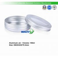 Buy cheap 100ml  Empty Cosmetic Cream packaging Aluminum jars with clear Windows from wholesalers