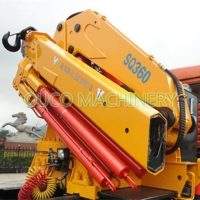 Buy cheap Yellow Cormach 10t Foldable Boom Lorry Mounted Crane from wholesalers