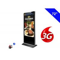 Buy cheap 3G Digital Signage Wifi Shopping Mall Kiosk 72 Inch LCD Advertising Screen Panel from wholesalers