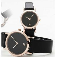 Buy cheap Black Leather Strap Quartz Watch Suitable for Couples and Lovers from wholesalers