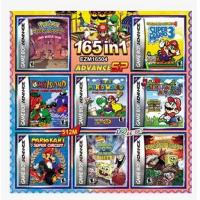 Buy cheap 165 in1 Pokemon Games Mario Bros/DONKEY KONG games cards Lot rare for GBA Gameboy Advance video game console from wholesalers