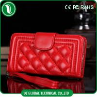 Buy cheap Red Fashion Apple iPhone 6 Leather Flip Phone Case Wallet with Long Gold Chain from wholesalers