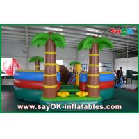 Buy cheap 0.55mm PVC Tarpaulin Inflatable Bouncer Slide / Pool With Coconut Tree Anti - UV from wholesalers