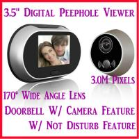 Buy cheap 3.5 Digital Door Peephole Viewer Doorbell Photo Camera W/ 3.0M Pixel & 170° Wide Angle from wholesalers